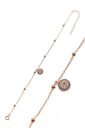 Söğütlü Silver Kadın Gümüş Göz Ve Toplu Zincir Bileklik SGTL8854