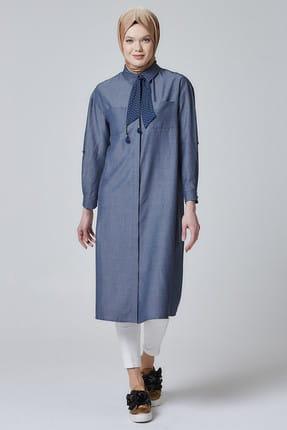 Armine Kadın İndigo Tunik Elbise 457428