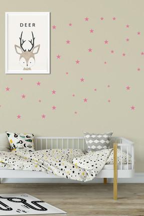 Bebek Center Bebek Odası Yıldız Sticker Pembe 81 Adet /