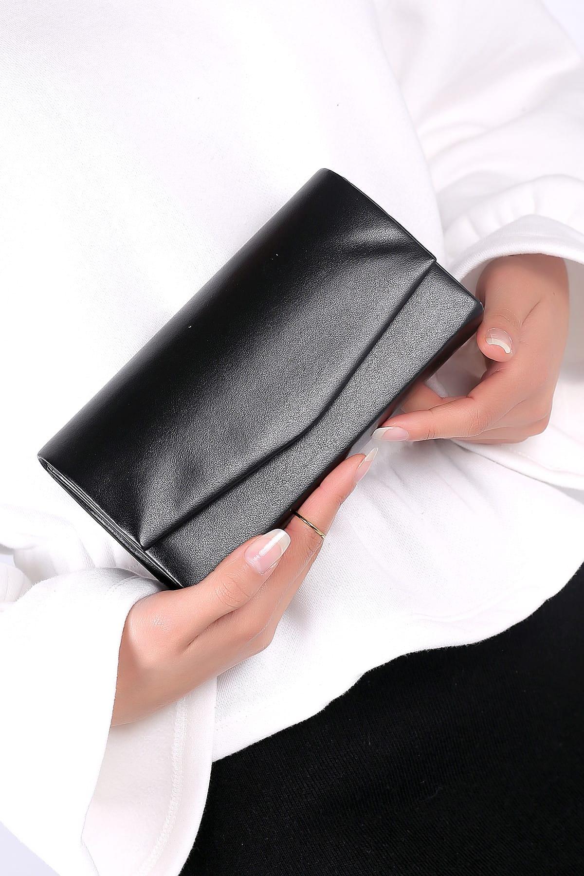 WMİLANO Siyah Cilt Kadın El Çantası C0201-18 1