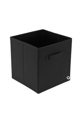 Rani Mobilya Rani Q1 Large Çok Amaçlı Dolap Içi Düzenleyici Kutu Dekoratif Saklama Kutusu Raf Organizer Siyah
