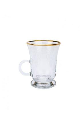 Karaca Bella Kulplu 6 Kişilik Çay Bardağı