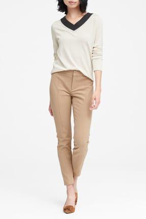 Banana Republic Kadın Bej Sloan Skinny-Fit Streç Pantolon 366770