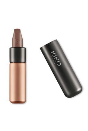 KIKO Saten Mat Ruj - Velvet Passion Matte Lipstick 332 Taupe Brown 8025272629898
