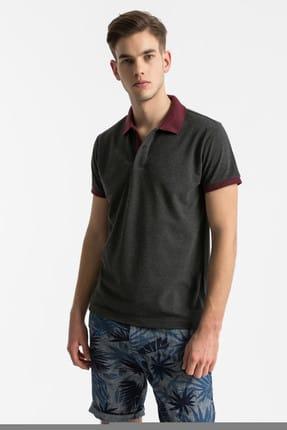 Ltb Erkek  Antrasit Polo Yaka T-Shirt 012198452060880000