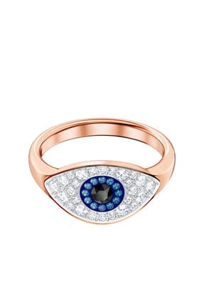 Swarovski Kadın Yüzük Duo:Ring Evil Eye Dmul/Ros 60 5448855