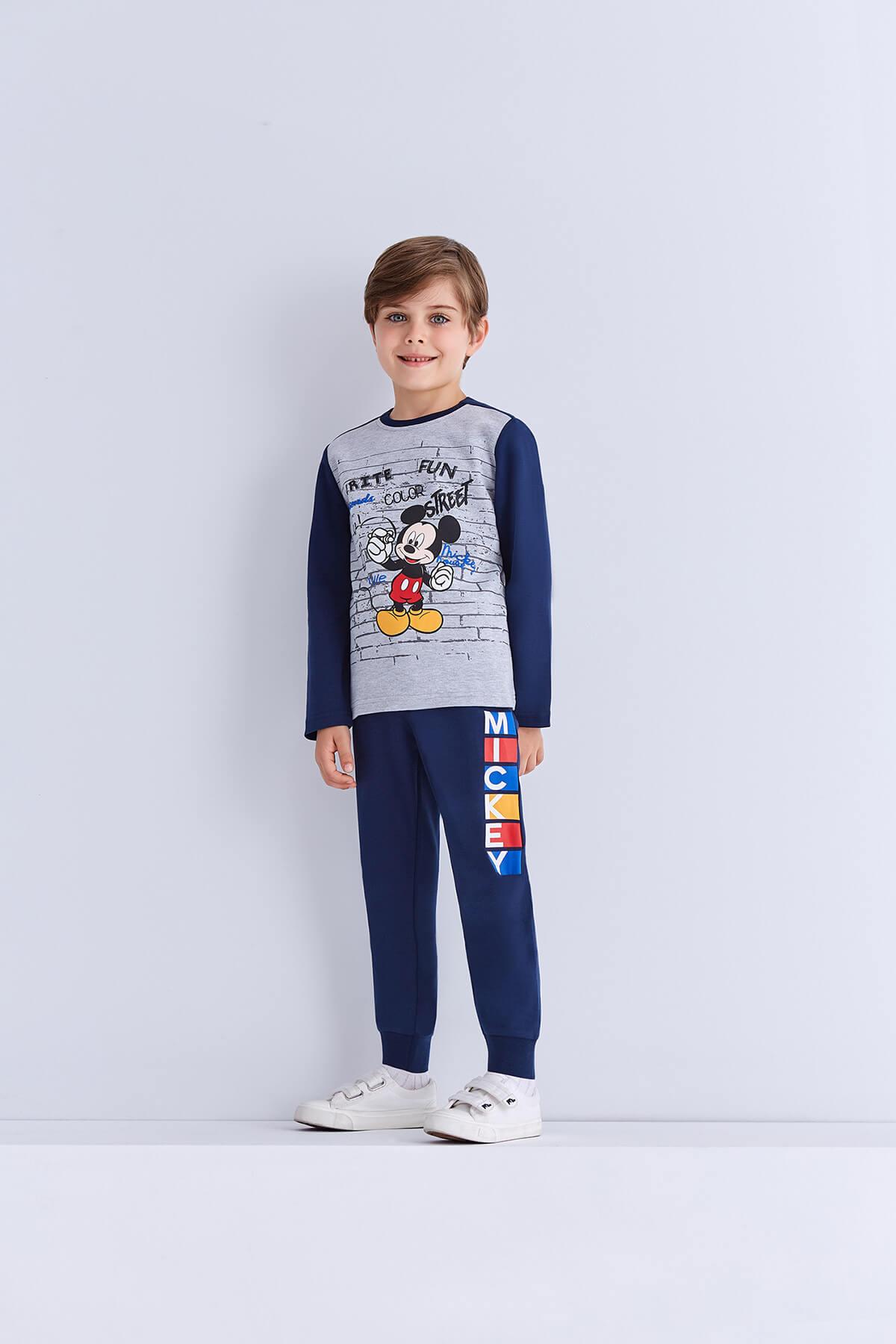 Mickey Mouse Lisanslı Erkek Çocuk Eşofman Takımı Grimelanj 6-8 Ya 1