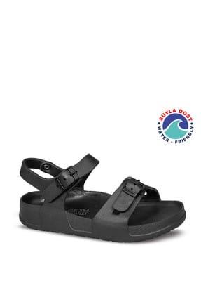 Ceyo Siyah Çocuk Sandalet 01535