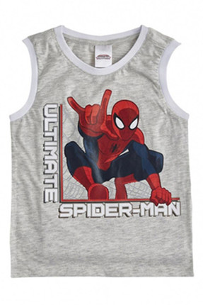 Soobe Lisanslı Ultimate Spider -Man Kolsuz T-Shirt Açık Gri Melanj   15YECATL1318_00-0004