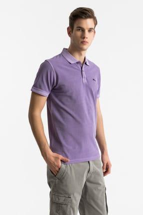 Ltb Erkek  Mor Polo Yaka T-Shirt 012198454160890000
