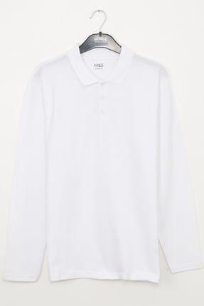 Marks & Spencer Beyaz Unısex 2'li Unisex Polo Yaka T-Shirt