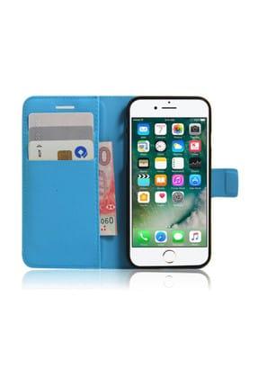 Microsonic Cüzdanlı Deri iPhone 7 Kılıf Turkuaz
