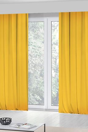 KOZZY HOME Sarı  Tek Kanat Fon Perde 140x270 Cm  Rfe422