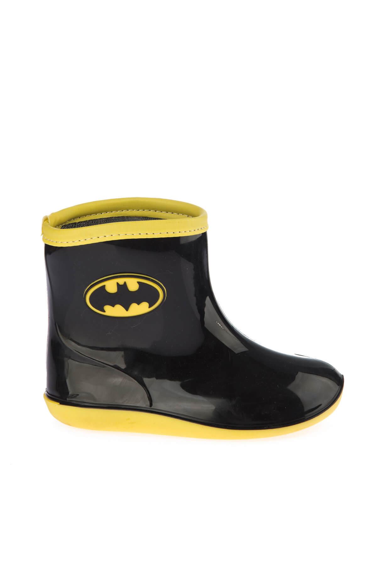 Batman 97246 Siyah Sarı Erkek Çocuk Yağmur Çizmesi 100394279 1