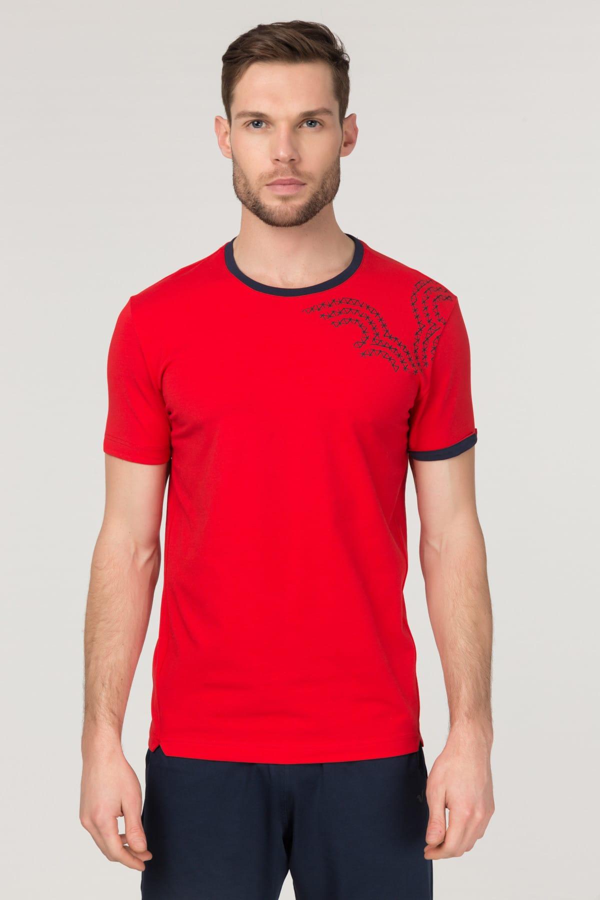 bilcee Kırmızı Pamuklu Erkek T-Shirt FS-1630 1