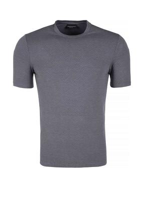 Emporio Armani Gri Erkek T-Shirt 3Z1M6H 1Jcbz