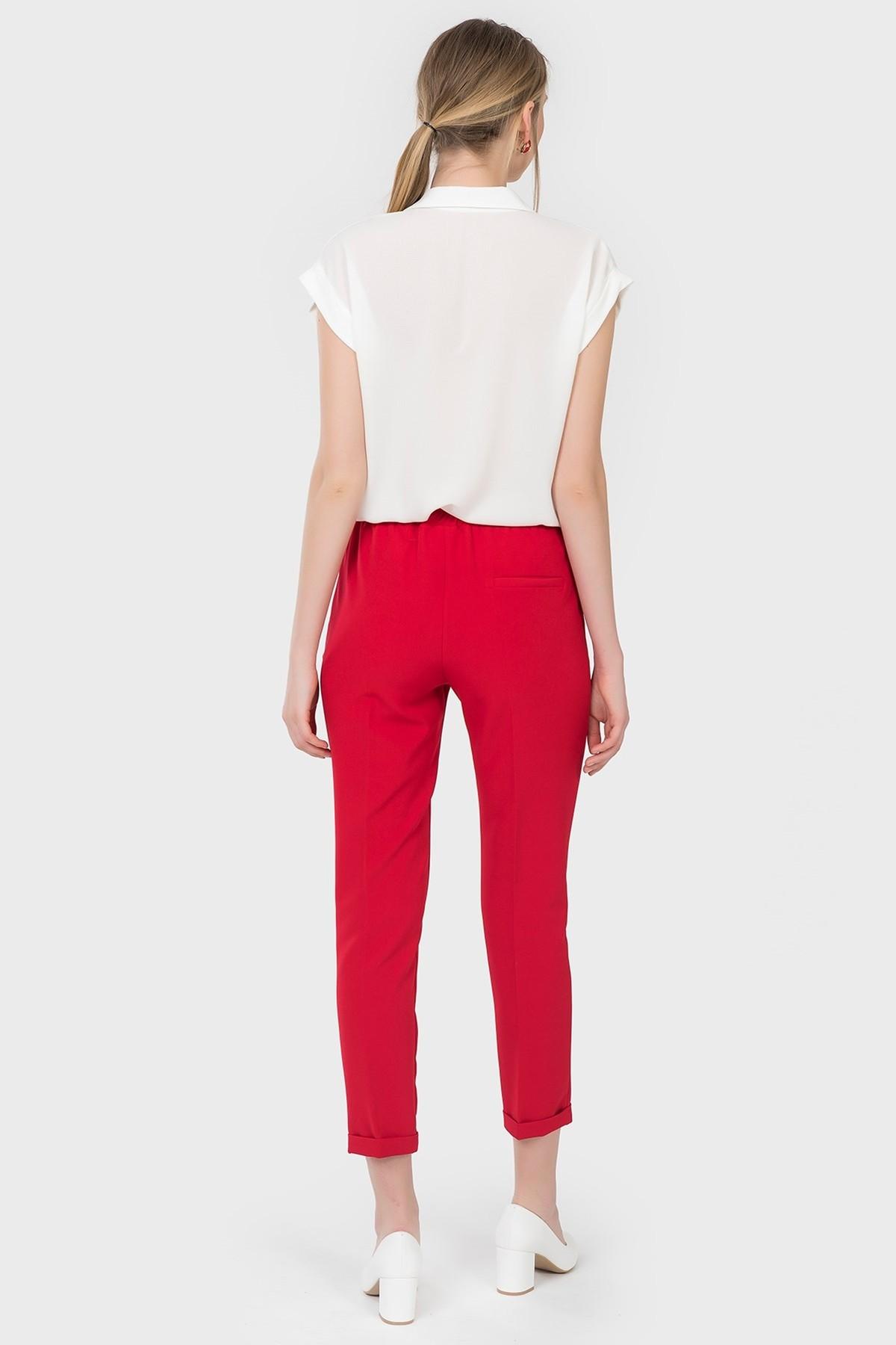 İroni Kadın Kırmızı Jogger Pantolon 1671-891 2