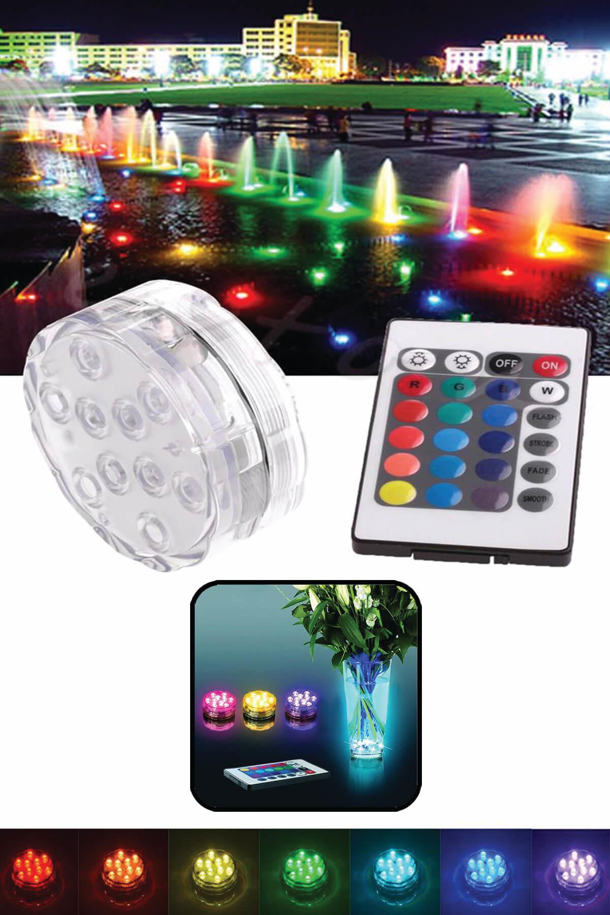 Practika Su Altı Renk Değiştiren Kumandalı Led Lamba L52 1