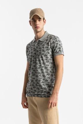 Ltb Erkek  Gri Polo Yaka T-Shirt 012198430760890000