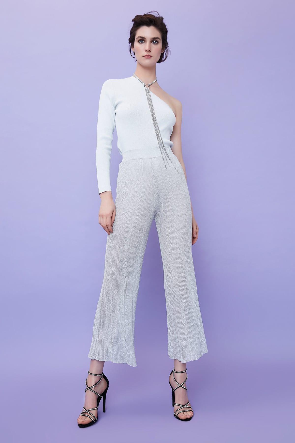 İpekyol Kadın Gri Yüksek Bel Pilisole Pantolon IS1190003112005 1