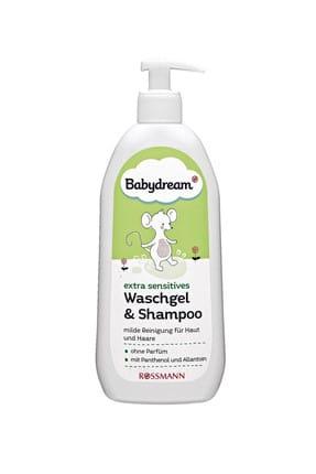BABYDREAM Hassas Bebekler için Duş Jeli Ve Şampuan 500 ml 4305615562742