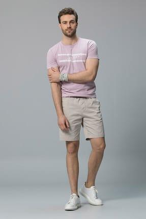 Lufian Erkek Lakon Vintage T- Shirt Lila 111020020100870