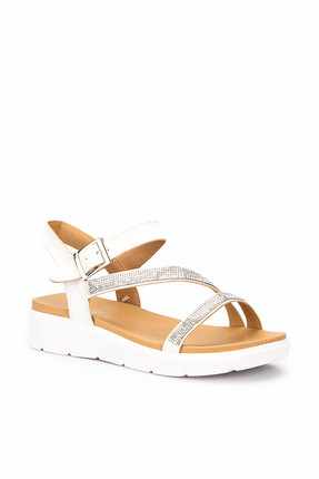 Polaris 71.310129.Z Beyaz Kadın Sandalet 100246214