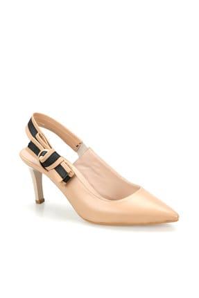 Miss F Ds19074 Bej Kadın Topuklu Ayakkabı 100382790