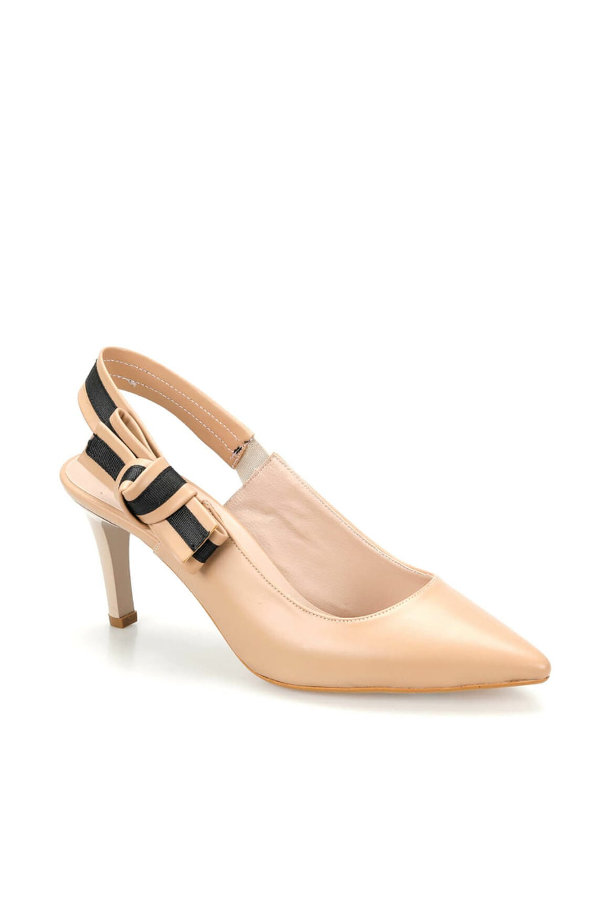 Miss F Ds19074 Bej Kadın Topuklu Ayakkabı 100382790 1
