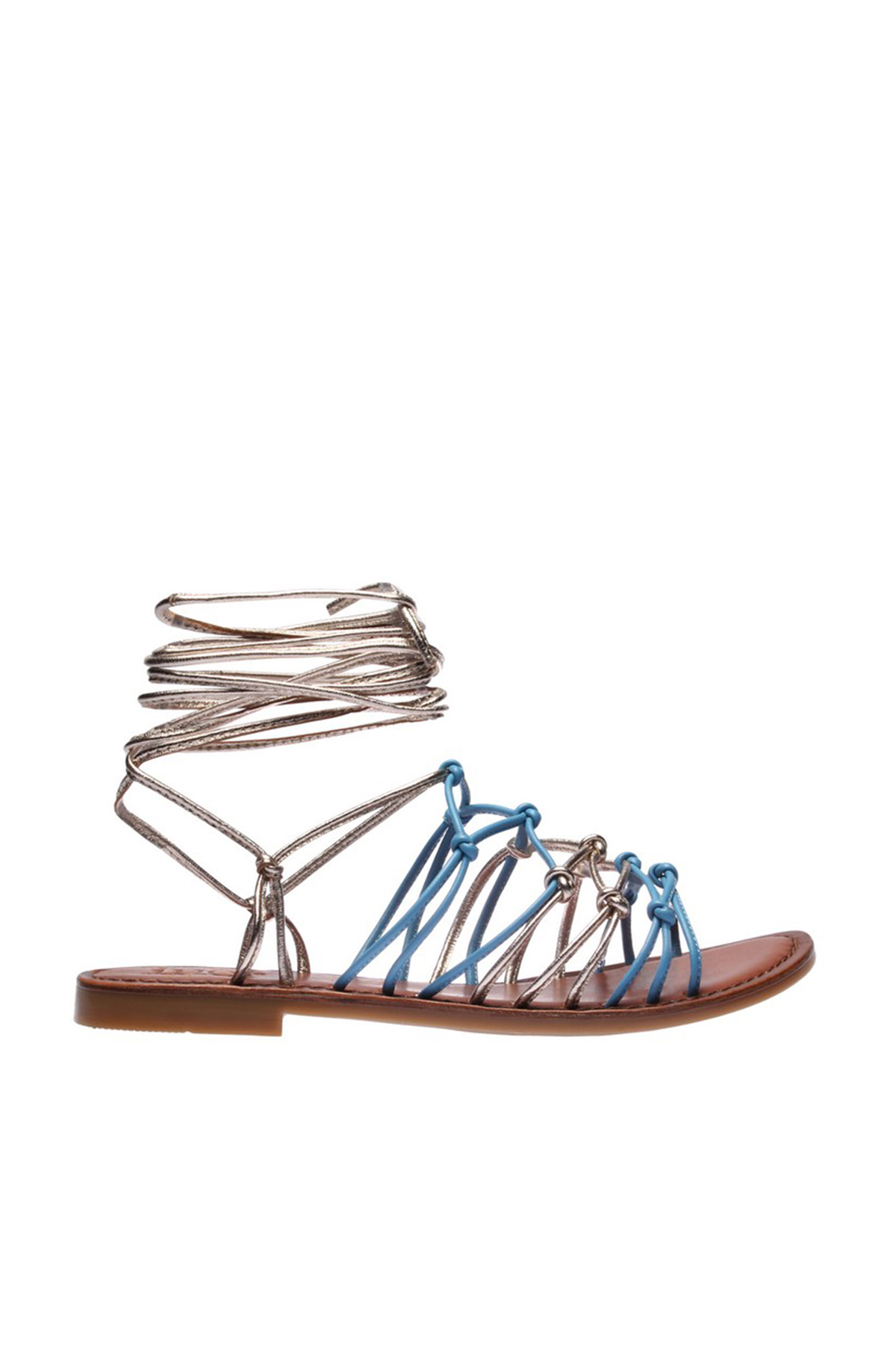 İnci Hakiki Deri Mavi Kadın Sandalet 120130002348 2