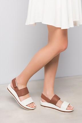 İnci Hakiki Deri Beyaz Kadın Sandalet 120120037010