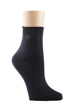 Calvin Klein Kadın Siayh Çorap TUMYILECC601-41