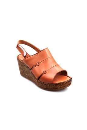 Pandora Kadın Taba Dolgu Topuk Sandalet Hg2042