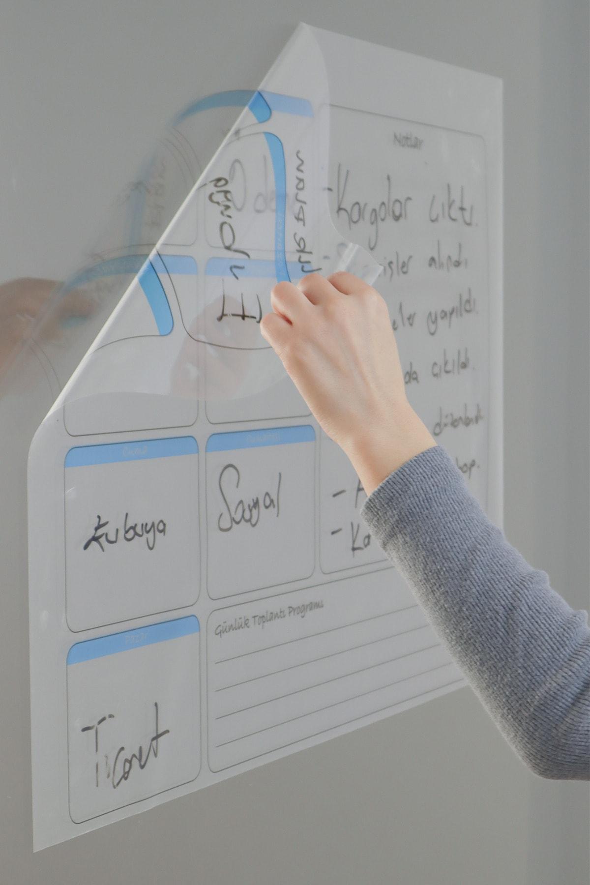 Evbuya Haftalık Planlayıcı Yapışkansız Manyetik Akıllı Kağıt & Silgili Kalem Hediyeli 1