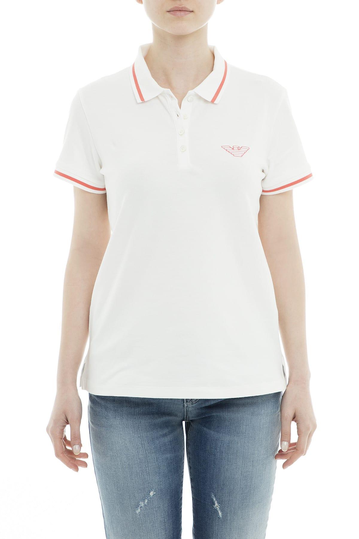 Emporio Armani Kadın Beyaz T-Shirt 3G2M61 2JBXZ 0101 1