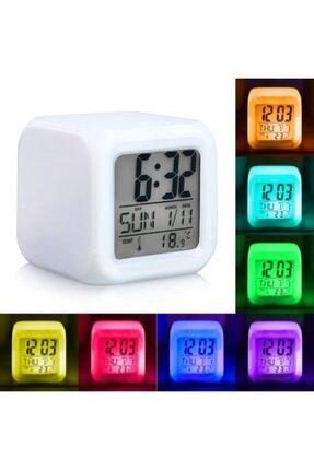 oddity 7 Renk Çocuk Odası Alarmlı Dijital Küp Çalar Saat