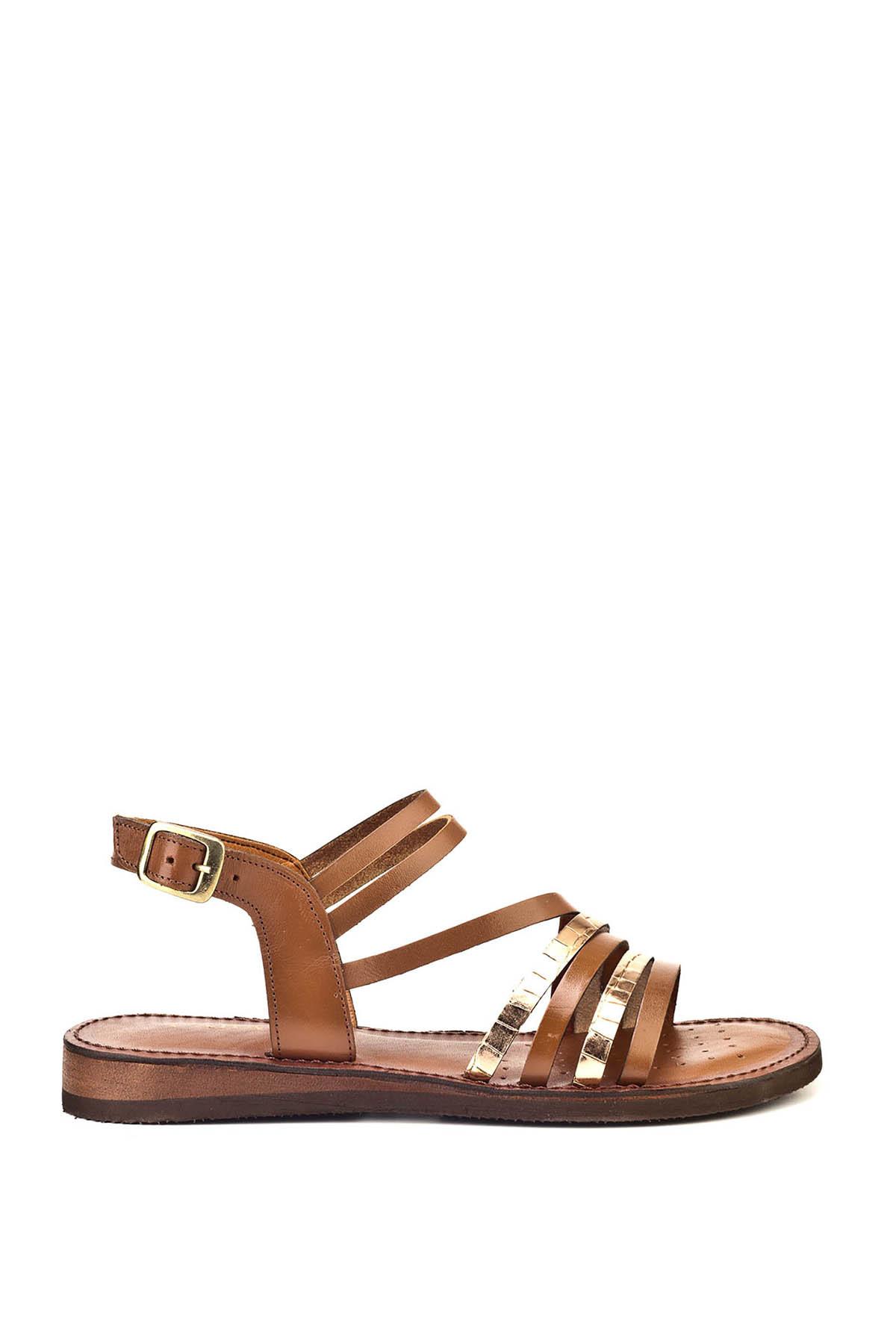 Cabani Hakiki Deri Taba Kadın Sandalet 8YBE05SA004W55 1