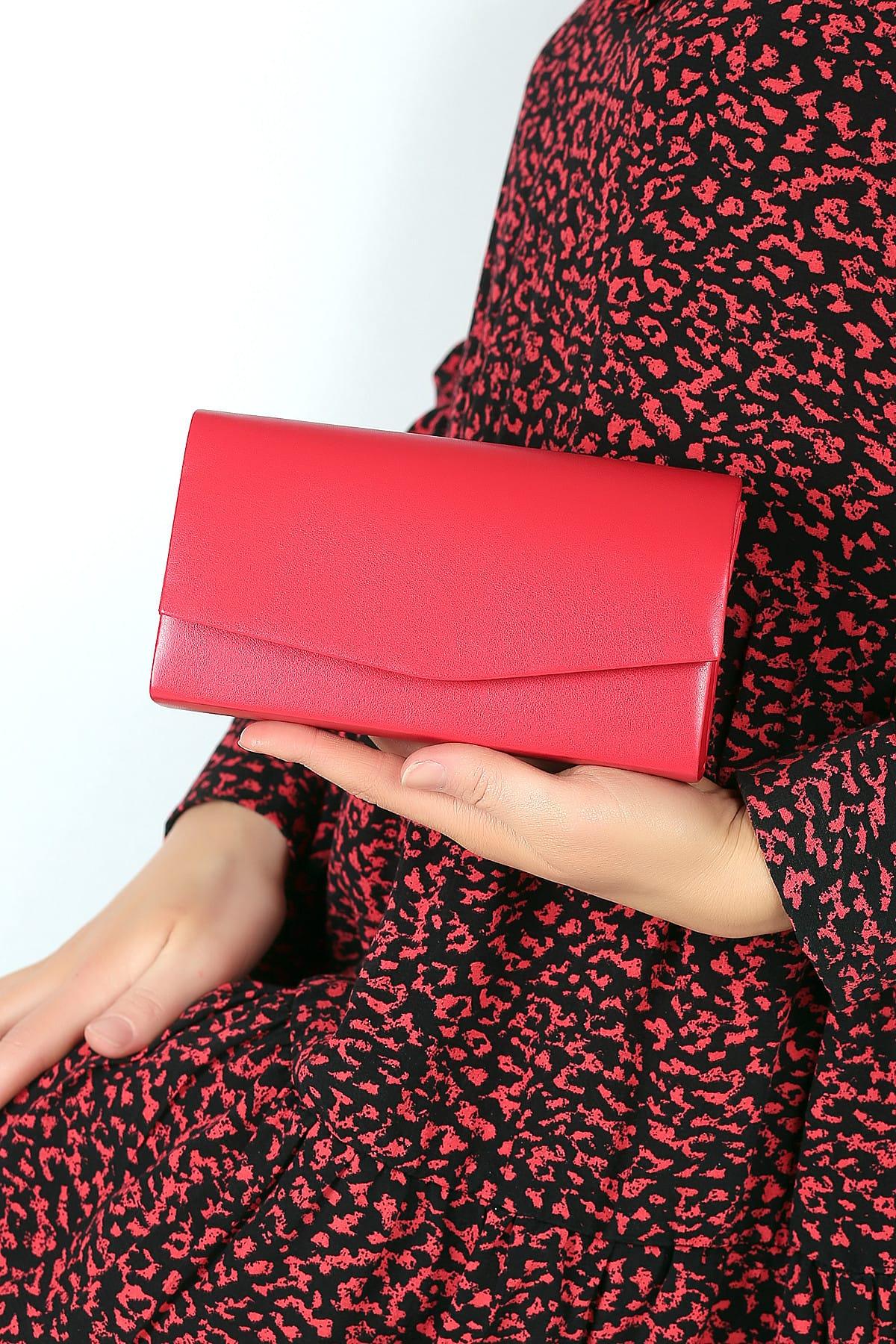 WMİLANO Kırmızı Cilt Kadın El Çantası C0201-18 1