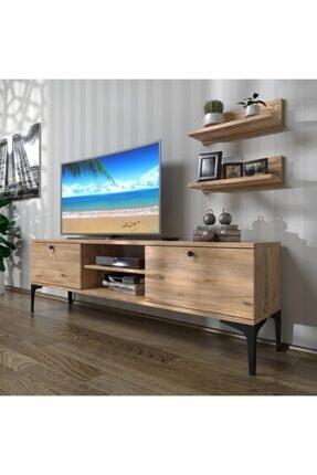 LENDA Merit Metal Ayaklı Tv Ünitesi, Tv Sehpası