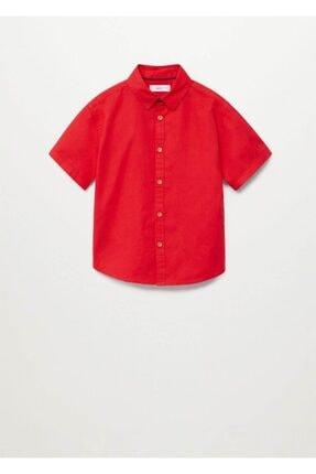 MANGO Kids Kısa Kollu Koton Gömlek