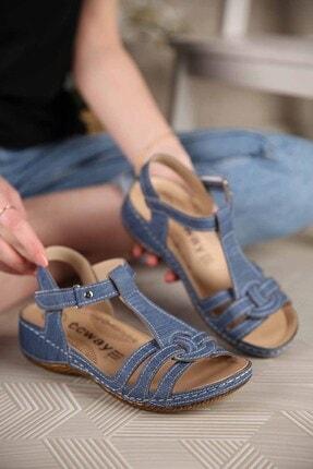 Ccway Kadın Laci Kot Cırtlı Sandalet