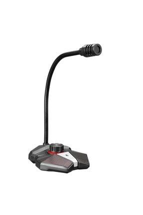 Rampage Rmx-m8 Tornado Gri Usb Led Işıklı Gaming Oyuncu Masaüstü Mikrofon