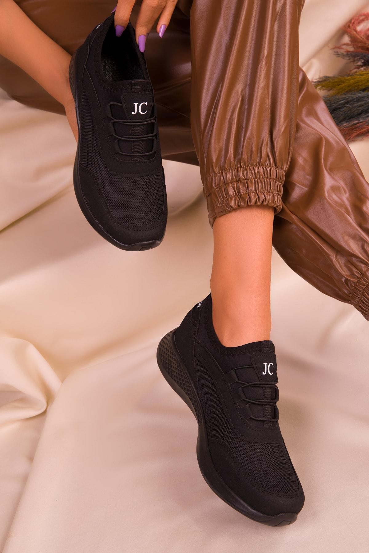 SOHO Siyah-Siyah Kadın Sneaker 15226 1