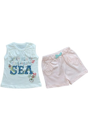 Flexi Kız Bebek Pembe Beyaz Organik Pamuklu Takım 2'li 216114