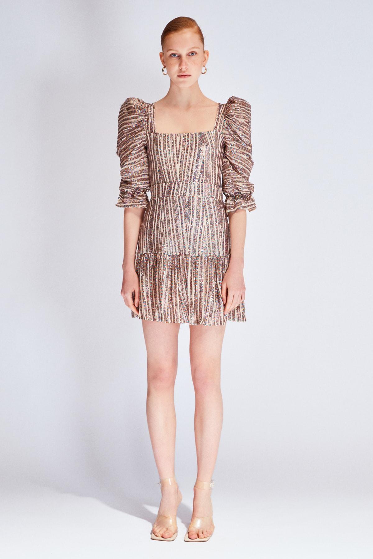 Raisa&Vanessa for Trendyol Çok Renkli Payetli Elbise TDPSS20EL0143 1