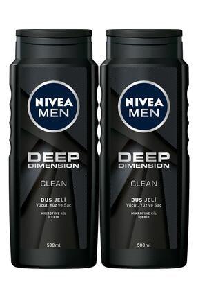 Nivea Men Deep Dimension Erkek Duş Jeli 500 ml x 2