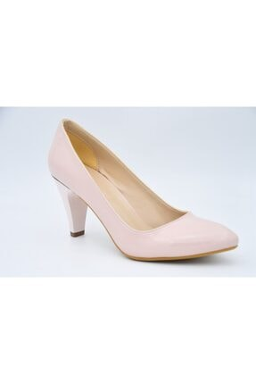 PUNTO Kadın Pembe Klasik Rugan Ayakkabı