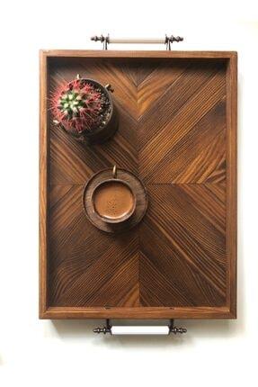 Wood Log Art Studio Dekoratif Ahşap Tepsi
