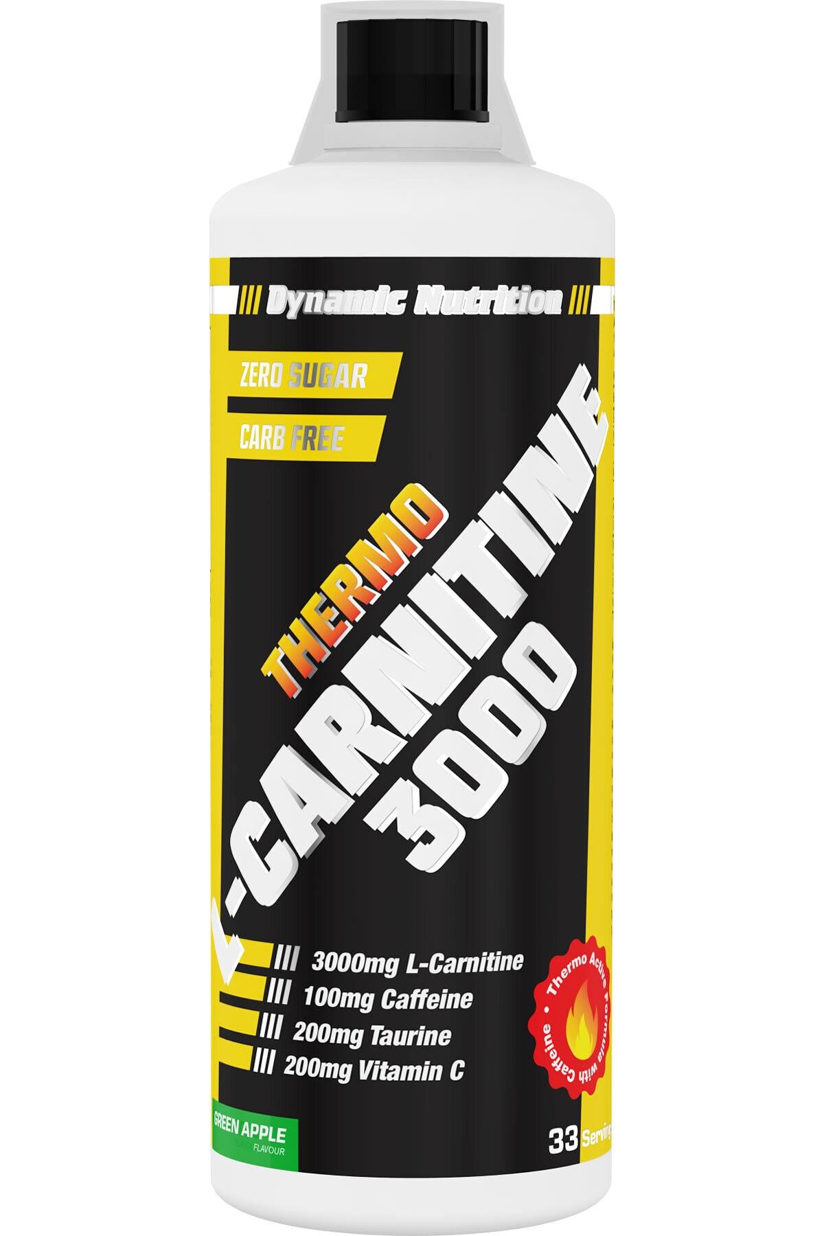 Dynamic Nutrition Dynamic Thermo L-carnitine 3000 Mg 1000 ml (Yeşil Elma Aromalı) 1