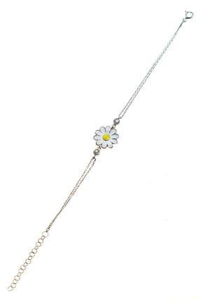 Söğütlü Silver Kadın Gümüş Mineli Papatya Bileklik SGTL9283